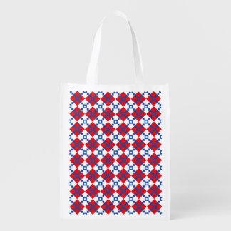 Scandinavian Christmas Pattern Reusable Grocery Bag
