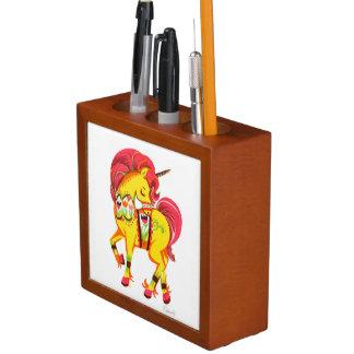 Scandinavian Dala Horse Unicorn Pen organizer