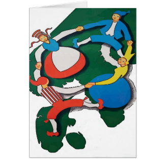 Scandinavian Dancers Card