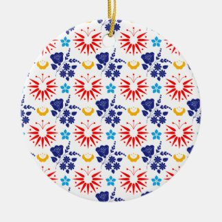 Scandinavian Ditsy Ceramic Ornament