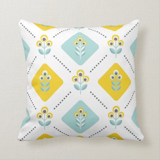 Scandinavian flowers 03, light throw pillow
