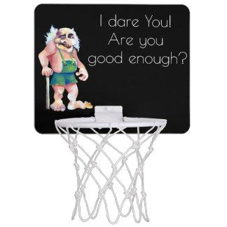 Scandinavian Funny Looking Ogre Troll Mini Basketball Hoop