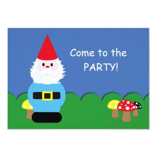 Scandinavian Gnome Customizable Party Card