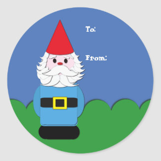 Scandinavian Gnome in the Grass Gift Tag
