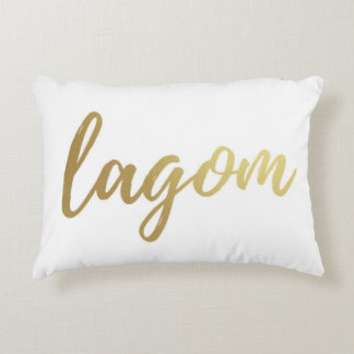 Scandinavian Lagom Gold Foil Rectangular Pillow