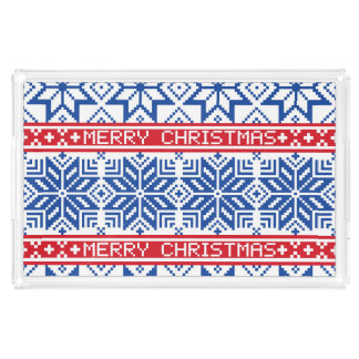 Scandinavian Merry Christmas Acrylic Tray