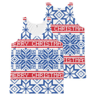 Scandinavian Merry Christmas All-Over-Print Tank Top
