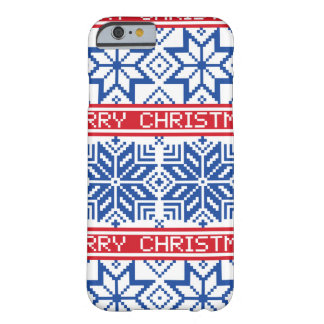 Scandinavian Merry Christmas Barely There iPhone 6 Case