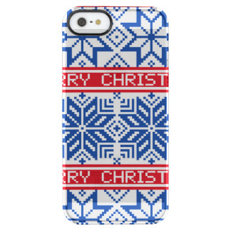 Scandinavian Merry Christmas Clear iPhone SE/5/5s Case