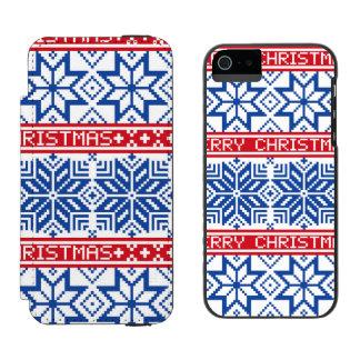 Scandinavian Merry Christmas Incipio Watson™ iPhone 5 Wallet Case