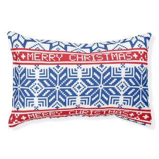 Scandinavian Merry Christmas Pet Bed