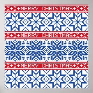 Scandinavian Merry Christmas Poster