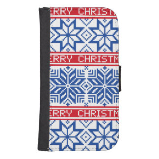 Scandinavian Merry Christmas Samsung S4 Wallet Case