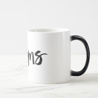 Scandinavian minimalist handwriting dream black 11 oz magic heat Color-Changing coffee mug