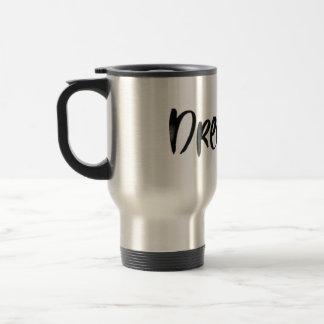 Scandinavian minimalist handwriting dream mug