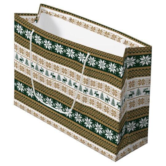 Scandinavian pattern large gift bag