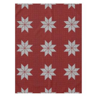 Scandinavian Snowflake Cross Stitch Table Cloth
