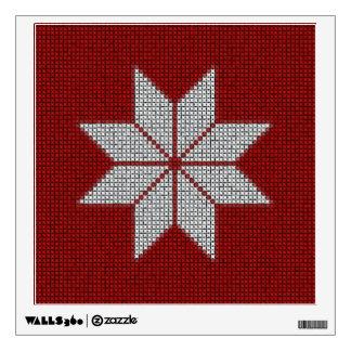 Scandinavian Snowflake Cross Stitch Wall Sticker