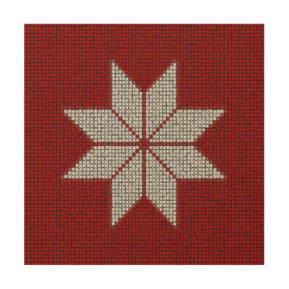 Scandinavian Snowflake Cross Stitch Wood Panel