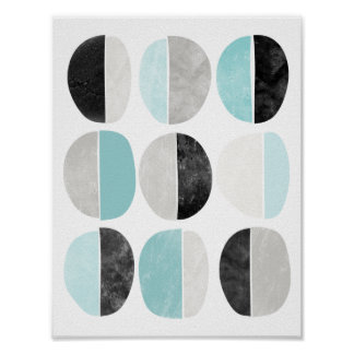 Scandinavian style geometric poster print