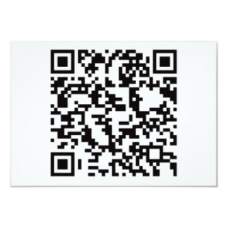 "Scannable QR Bar code 3.5"" X 5"" Invitation Card"