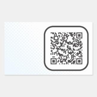 Scannable QR Bar code Sticker