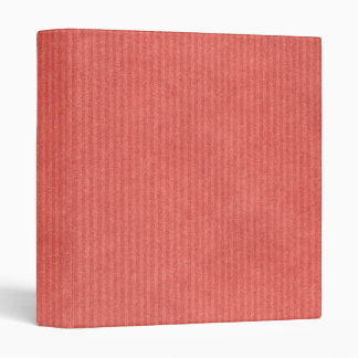 Scanned Detailed Kraft Paper Texture Coral Red 3 Ring Binder