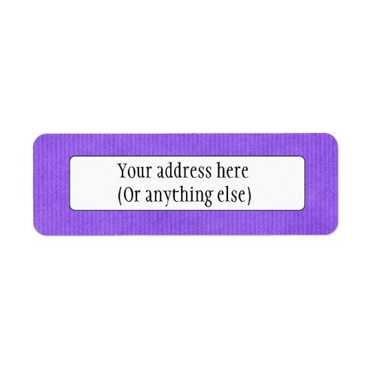 Scanned Detailed Kraft Paper Texture Purple Return Address Label