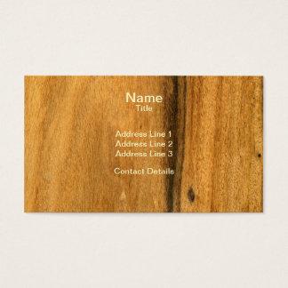 Scanned Detailed Santos Rosewood Veneer Business Card