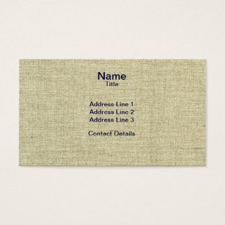 Scanned Natural Linen Canvas Texture Business Card