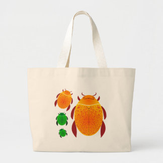 Scarab Beetle Large Tote Bag