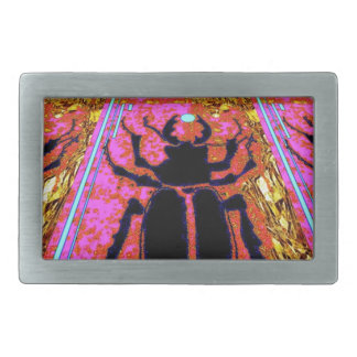 Scarab Beetle pink -Gold gifts by Sharles Belt Buckle