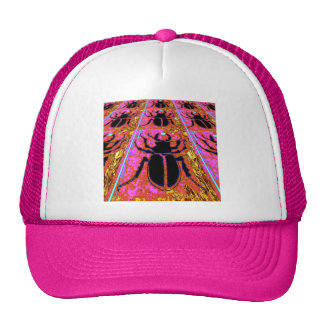 Scarab Beetle pink -Gold gifts by Sharles Trucker Hats
