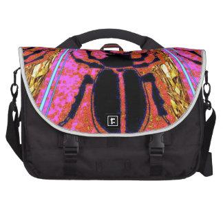 Scarab Beetle pink -Gold gifts by Sharles Laptop Messenger Bag