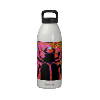 Scarab Beetle pink -Gold gifts by Sharles Water Bottle