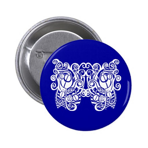 scarab butterfly button