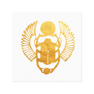 Scarab Egypt. Egyptian Winged Scarab Beetle. Canvas Print