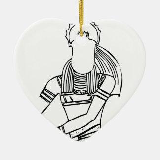 Scarab Pharaoh 1 Ceramic Ornament