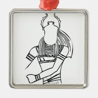 Scarab Pharaoh 1 Metal Ornament