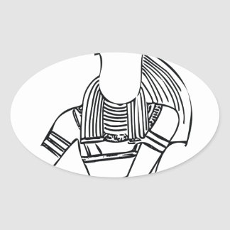 Scarab Pharaoh 1 Oval Sticker