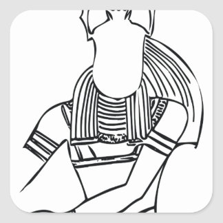 Scarab Pharaoh 1 Square Sticker