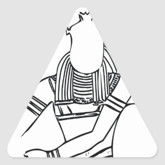Scarab Pharaoh 1 Triangle Sticker
