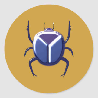 Scarab scarab classic round sticker