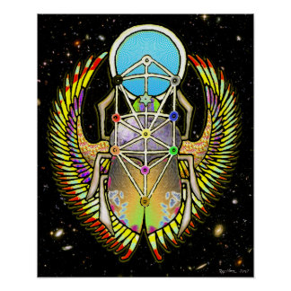 Scarab Tree of Life Poster