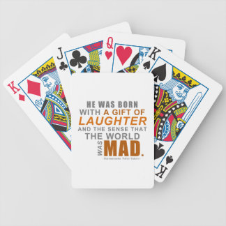 Scaramouche - A First Line Quote Bicycle Playing Cards