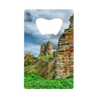 Scarborough Castle and Lighthouse Wallet Bottle Opener