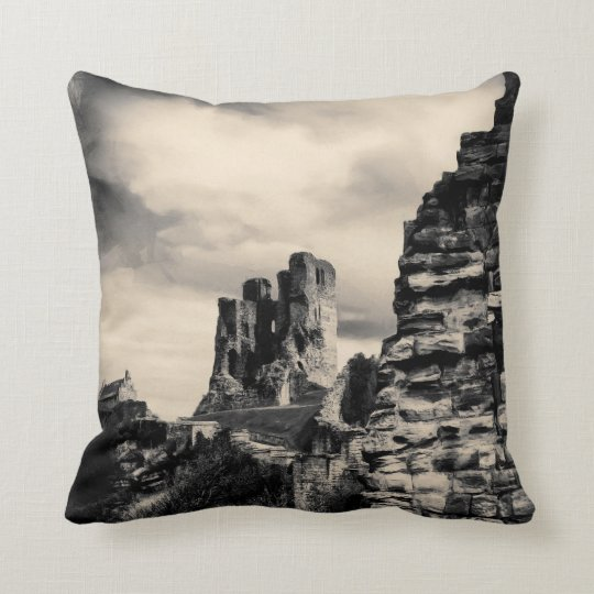 Scarborough Castle Throw Pillow
