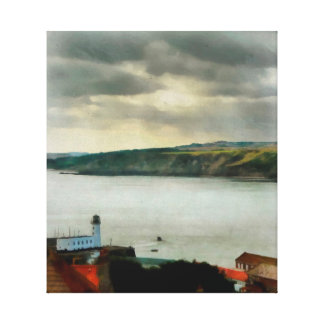 Scarborough from On High Canvas Print