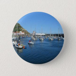 Scarborough harbour 2 inch round button