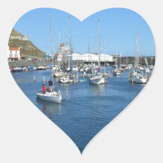 Scarborough harbour heart sticker